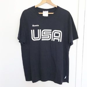 Roots men's USA Olympic 2006 t shirt sz L